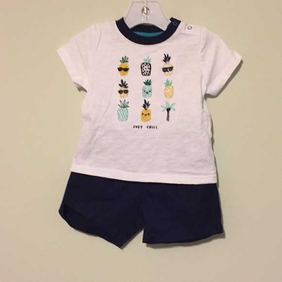 NWT Gymboree Girls Pineapple Tee /& Shorts Outfit 5 6 10 12